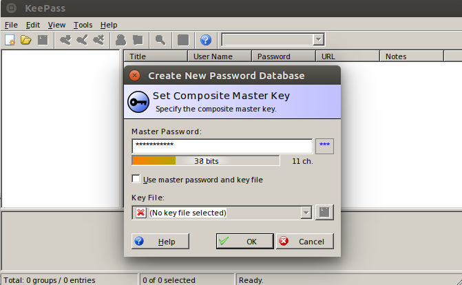 KeePass 2nd UI