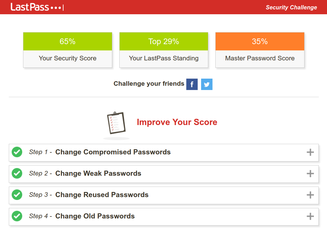 LastPass Usage - Security Challenge